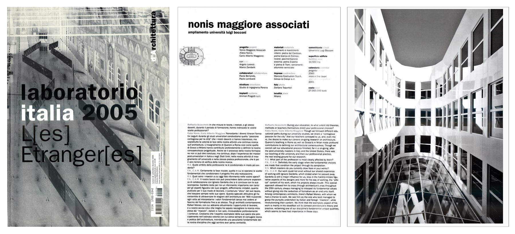 """""""Ampliamento Università Luigi Bocconi"""", d'Architettura, n°28, 2005"""