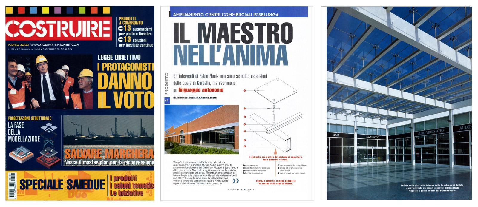 """""""Il Maestro nell'anima"""", Costruire n°226, marzo 2002"""