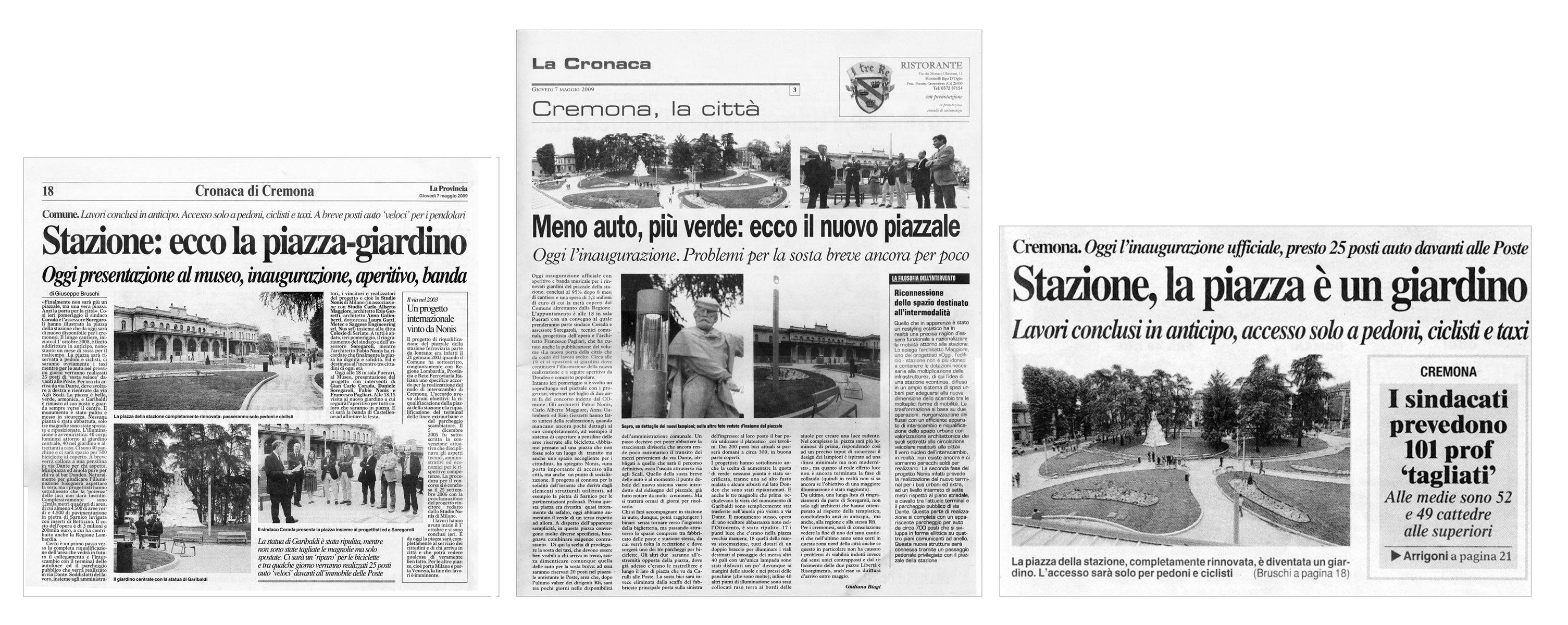 """""""La Cronaca"""" e """"La Provncia"""" di Cremona, maggio 2009"""