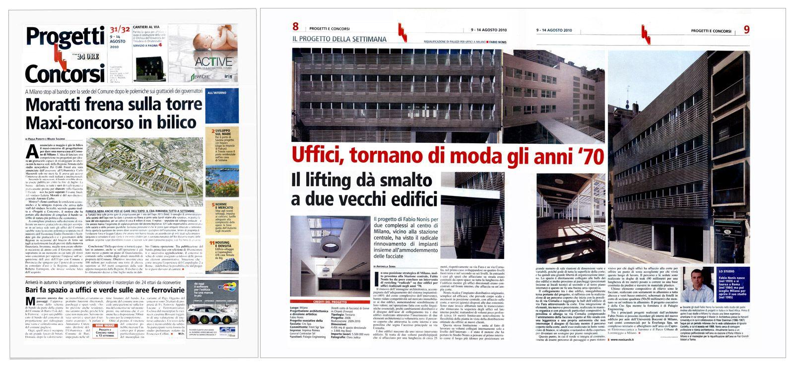 """Edilizia & Territorio, supplemento a """"Il Sole 24 Ore"""", agosto 2010"""