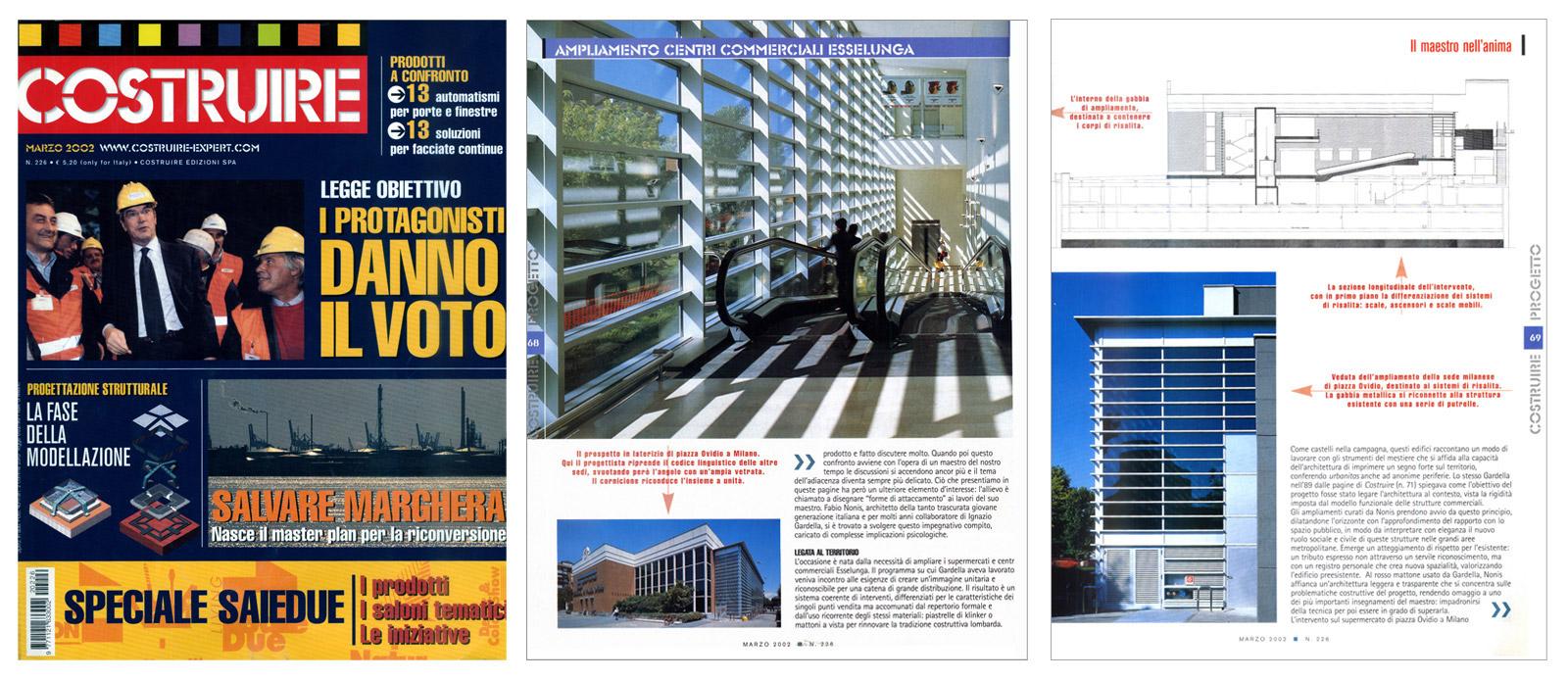 """""""Il maestro dell'anima"""", Costruire n°226, marzo 2002, pagg.da 66 a 71"""