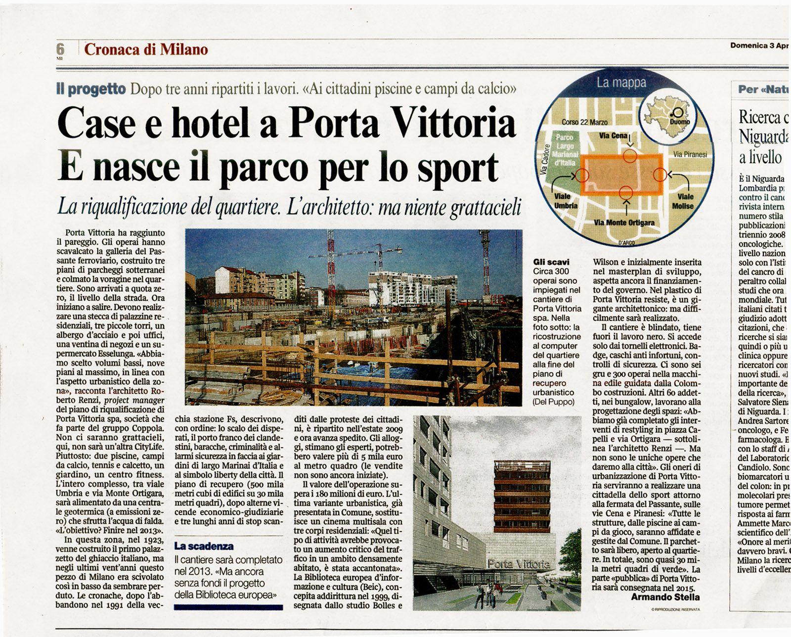 Il Corriere della Sera, aprile, 2011