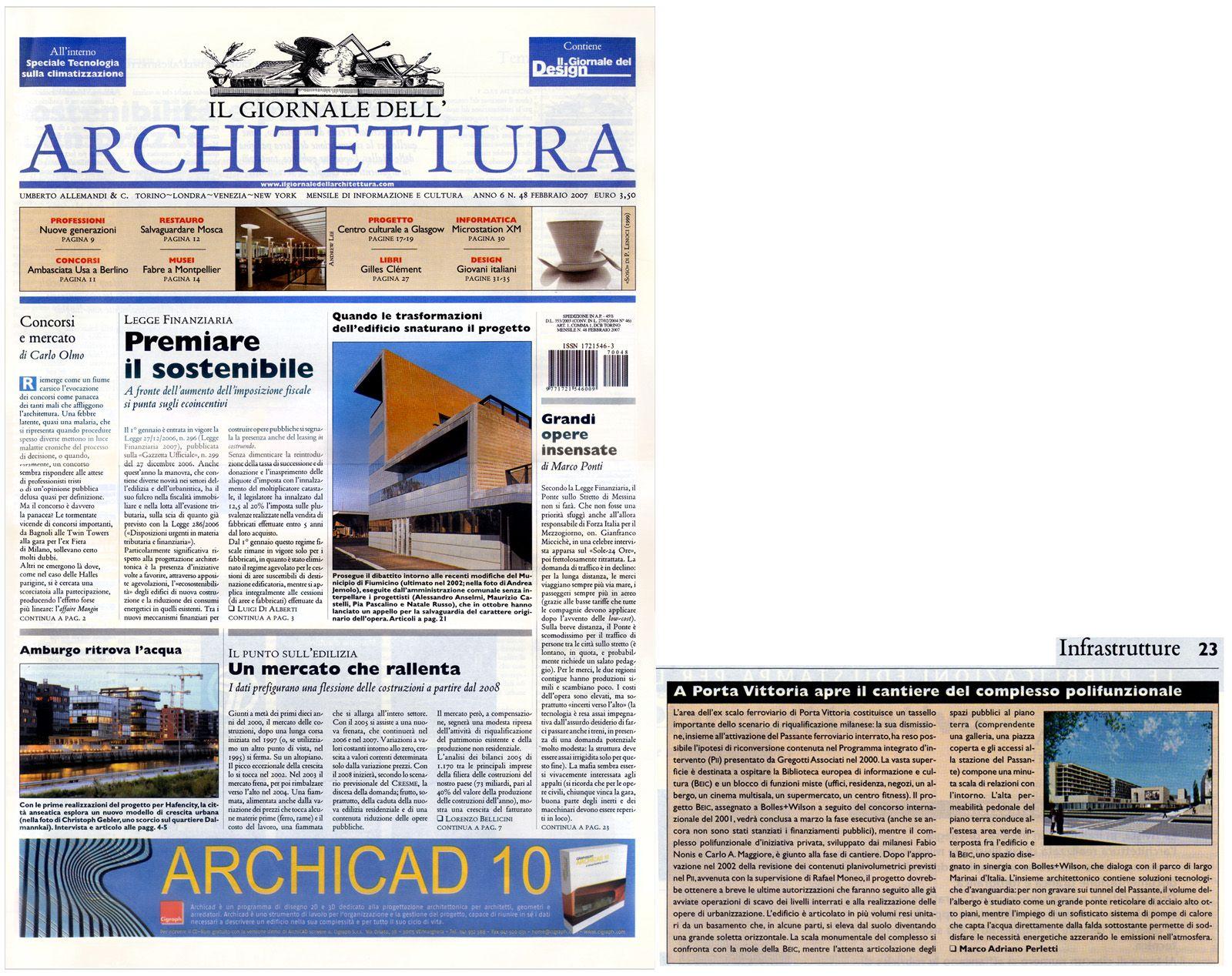 Il Giornale dell'architettura, n°48, 2008