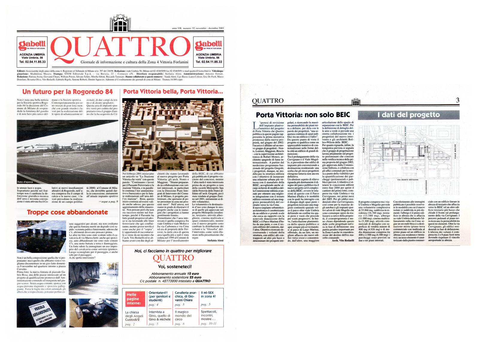 Zona Quattro, anno VII, n°52, 2003