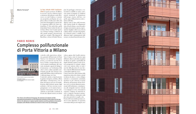 Costruire in Laterizio N°163 a cura di Alberto Ferraresi, p.40-41, 2015