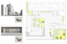Piano terra, hall e mensa