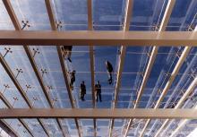 Foto della grande copertura in vetro
