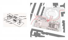 Schizzi di studio, Planimetria generale