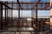 """Foto dei terrazzi degli attici dell'edificio """"B"""""""
