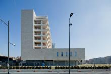 """L'edificio """"P"""" residenze visto da viale Umbria"""