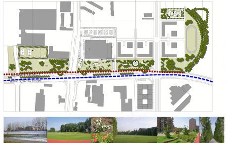 Planimetria generale | Foto del parco realizzato