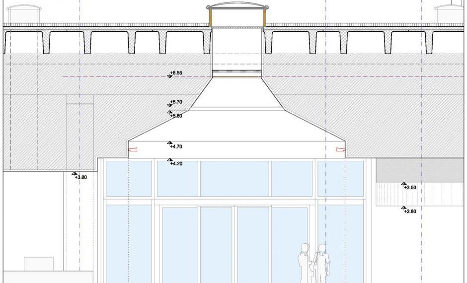 Sezione sulla galleria interna