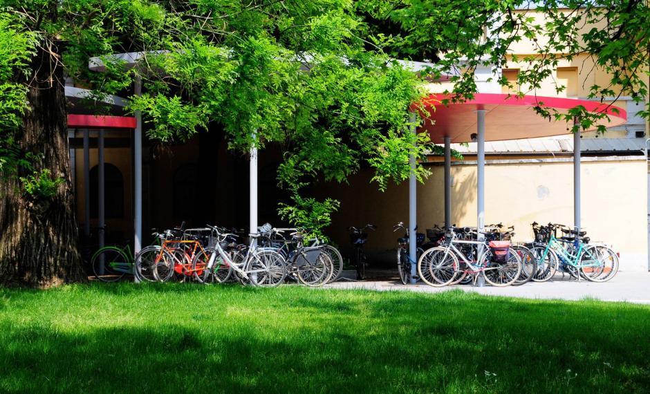 Foto delle pensiline bici