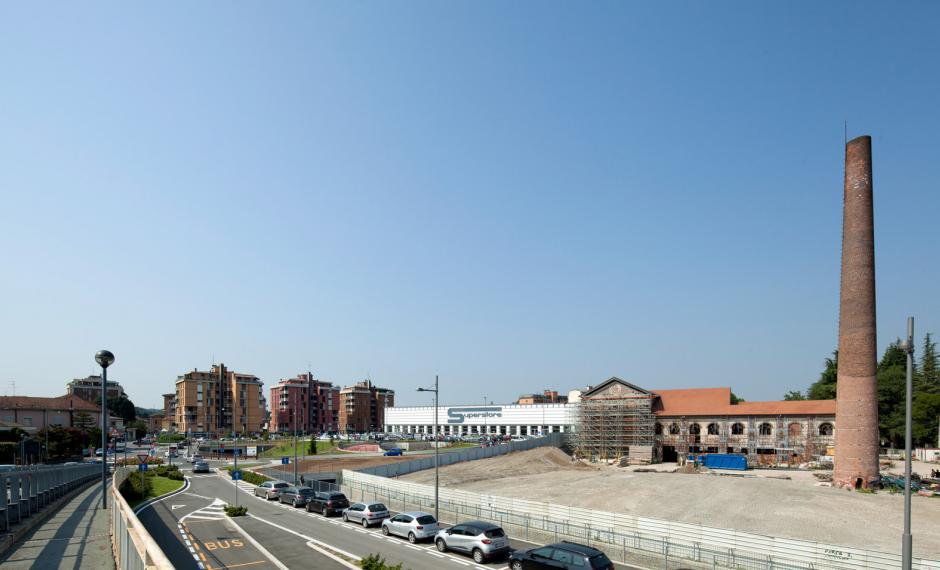 Foto dell'intervento da via Vittorio Veneto
