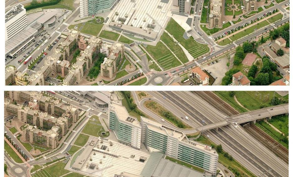 Foto aeree dell'area